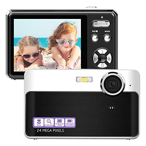 Cámara digital compacta de 2,4 pulgadas, pantalla LCD, Vlog, cámara de 24 MP, 1080p, HD, cámara fotográfica para niños, estudiantes, principiantes, fotografía