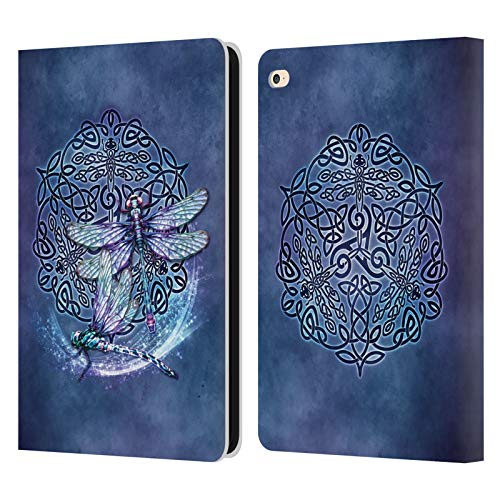 Head Case Designs Officially Licensed Brigid Ashwood Dragonfly Celtic Wisdom Leather Book Wallet Case Cover Compatible with Apple iPad Air 2 (2014)