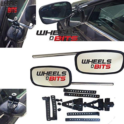 Wheels N Bits PREMIUM FIT 2 x CARAVAN TOWING MIRROR EXTENSION CAR WING MIRRORS RIGHT & LEFT