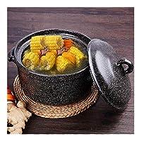 耐性3.17Quart 4.22Quartキャセロール調理器具スープ鍋簡単にきれいな栄養がキャセロールディッシュスキレット硬質アルマイト標準キャセロール鍋パンを対象スクラッチ (Color : Casserole 4L)