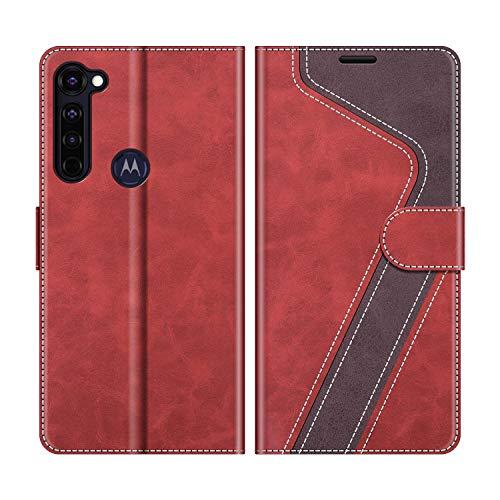 MOBESV Handyhülle für Motorola Moto G Pro Hülle Leder, Motorola Moto G Pro Klapphülle Handytasche Hülle für Motorola Moto G Pro Handy Hüllen, Modisch Rot