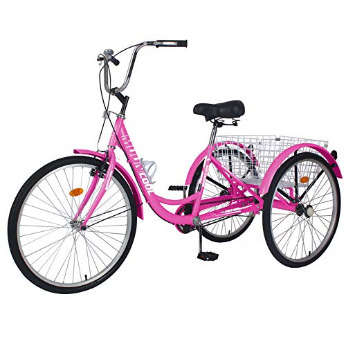 Best for Elders: Slsy Adult Tricycles Single Speed,