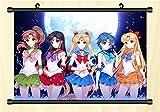 ZYAAO Sailor Moon Rollbild/Kakemono Poster aus