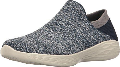 Skechers You, Zapatillas sin Cordones Mujer, Azul (Navy), 37 EU