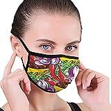 Spezie Condimenti Maschera bocca antipolvere senza cuciture Maschera bocca unisex riutilizzabile alla moda riutilizzabile