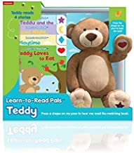 Kidsbooks Learn-to-Read Pals Plush Electronic Story Reader and 4-Book Library, Teddy (Bear)