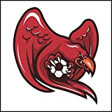 Fliesenaufkleber Fliesentattoos für Bad & Küche - Küchenfliesen für weiße einzelne Fließen empfohlen 18x18 cm - Sport Maskottchen Logos - roter Vogel Fußballmaskottchen Logo