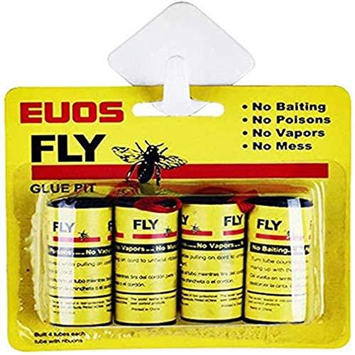 Starkt flugpapper Flugrullepapper Bekämpningsmedelfritt flugpapper Klibbigt flugfångare Gult