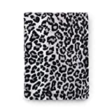 Tadpoles Super Soft Snow Leopard Baby Blanket, Perfect Animal Print, Grey Cheetah Blanket for Bed, Couch, Travel, 30x40 inch