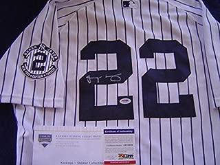 New York Yankees Jacoby Ellsbury Game Used Signed Derek Jeter Jersey Steiner - PSA/DNA Certified - MLB Game Used Jerseys