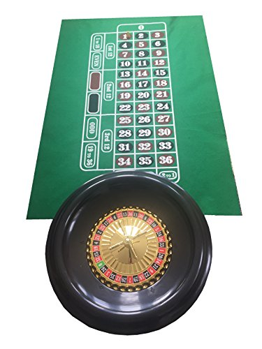 Ruleta grande de 40 cm, bolas, tapete verde de fieltro e
