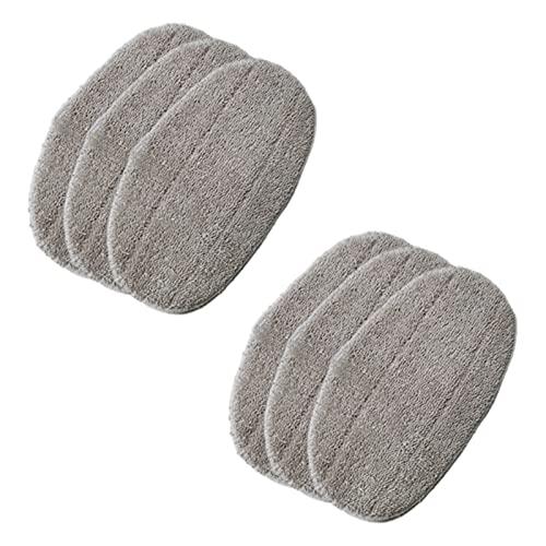 Musen Accesorios para la Cabeza del trapeador de la Microfibra del paño del trapeador de Vapor Mop Reemplazo de la Tela de reemplazo para Leifheit Clean Tenso Steam Mop, 6PCS MS (Color : Gray)