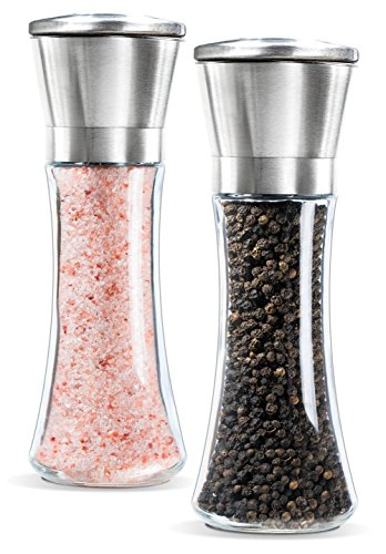 ZEEBLY® 1Pcs Salt and Pepper Grinder - Salt and Pepper Shakers Mill, Stainless Steel Adjustable Coarseness Great Gift Set - Salt and Pepper Mill Shaker Mills