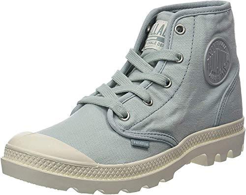 Palladium Damen Pampa Hi Hohe Sneaker, Blau (Gray Mist/Marshmallow K92), 37 EU