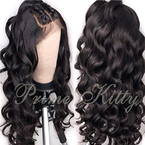 Small Cap Curly Human Hair Wig 180% Density Brazilian Remy Full Lace Wigs Human Hair Wigs with Baby Hair Body Wave Full Lace Human Hair Wig for Black Women Glueless Human Hair Wigs Pre Plucked 14""
