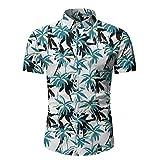 SSBZYES Camisas para Hombre Camisas Florales De Verano De Manga Corta para Hombre Camisas Informales para Hombre Camisas De Playa De Manga Corta Camisas Ajustadas Camisas para Hombre