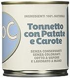 Adoc - Cibo Umido per Cani Adulti con Ingredienti Naturali Tonnetto con Patate e Carote - 16 lattine da 285gr