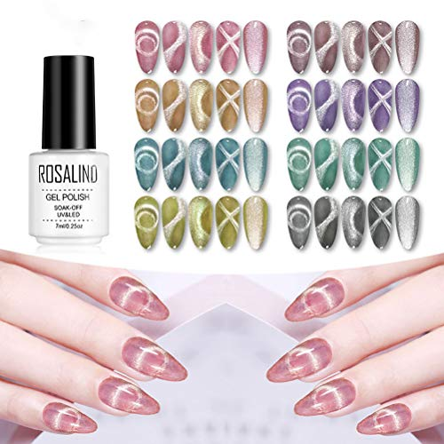Sapphero 8 stuks 9D Cat Eye Gel Nail Polish Long Lasting Sock Off Gel Nail Art