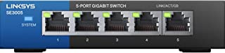 Linksys SWTLNK880 Switch, Negro, 5, 10/100/1000 Base-T(X)