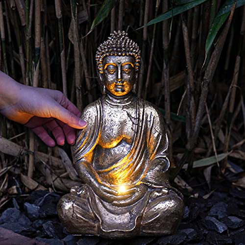 Festive Lights - Solar Buddha Garden Light - Outdoor Zen Ornament Statue Lighting