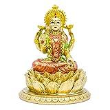 Hindu Goddess Laxmi Statue Sculpture Indian God Lord Lakshmi Home Office Temple Mandir Puja Items India Idol Figurine Murti Pooja Decor Diwali Gifts Yoga Zen Meditation Room Altar Shrine Kit