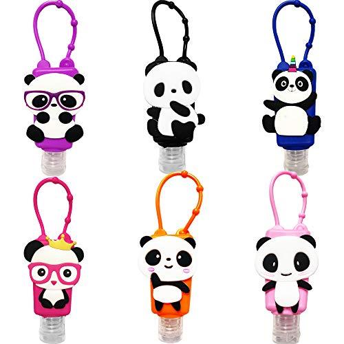 Ulife Mall Tragbare Reiseflaschen Set - 6 Stück 30ml Auslaufsichere Nachfüllbare Händedesinfektionsmittel Behälter Fluessigseife Cremeseife Reisebehälter Leere Flasche Panda Reise Zubehör für Kinder