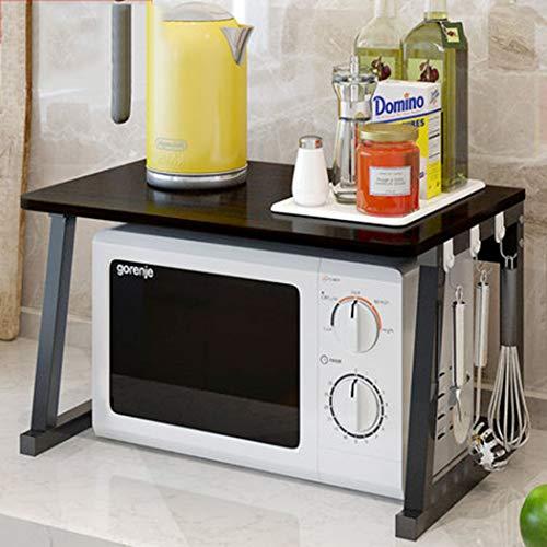 Estante de almacenamientoEstanterías y estantes de la cocina, Rack de cocina Microondas Horno Estantería de horno 2 capas Almacenamiento Multifunción Double Double R B
