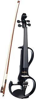 Shiwaki Finest 1 Set Solidwooden Big Gig Violín Eléctrico Silencioso - 4/4 Tamaño Completo