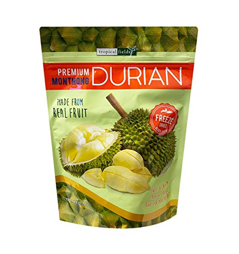 Tropical Fields NEW Premium Monthong Freeze Dried Real Durian 3.5oz, 1 Pack