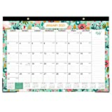 2021-2022 Desk Calendar - 2021-2022 Monthly Desk Calendar, January 2021 - June 2022, Desk/Wall Monthly Calendar , 17' x 12', Large Ruled Blocks with Julian Date for Planning and Organizing