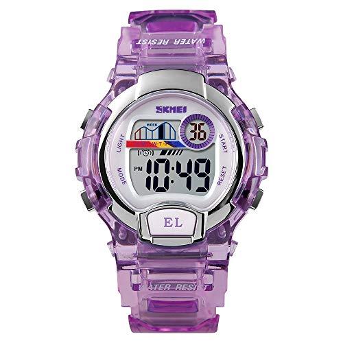 Warm Home CASA dames sporthorloge waterdicht 1450 digitaal transparant met LED horloge
