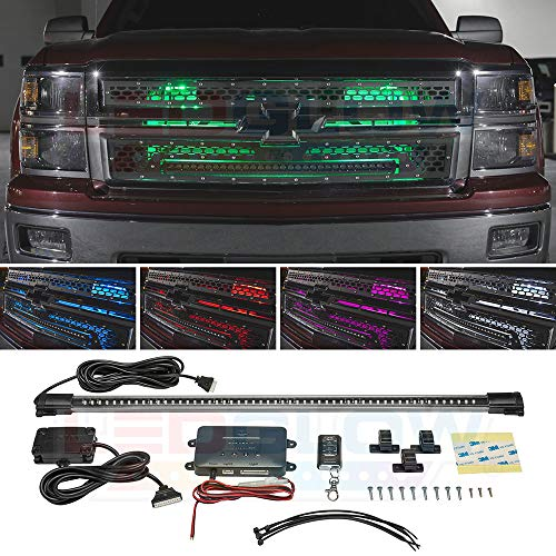 LEDGlow Million Color LED Grille Accent Neon Lighting Kit for Cars & Trucks - 18 Solid Colors - 12 Patterns - 24
