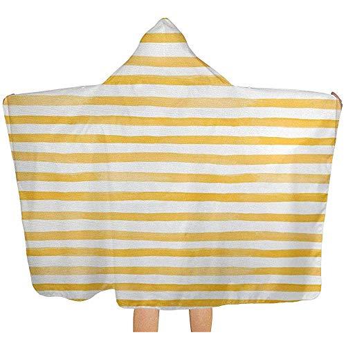 Gustave Tomlinson Manta con Capucha de Rayas desiguales Estilo Acuarela, Toalla de baño para Piscina, Cubierta Multiusos, Bata cambiante