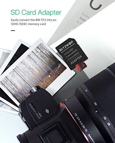 BlitzWolf TF Karte, 32GB Micro Speicherkarte Class 10 UHS-1 V30 SD Karte Speicher Memory Flash Card + SD Adapter für Telefon, Tablet und PC(32GB)