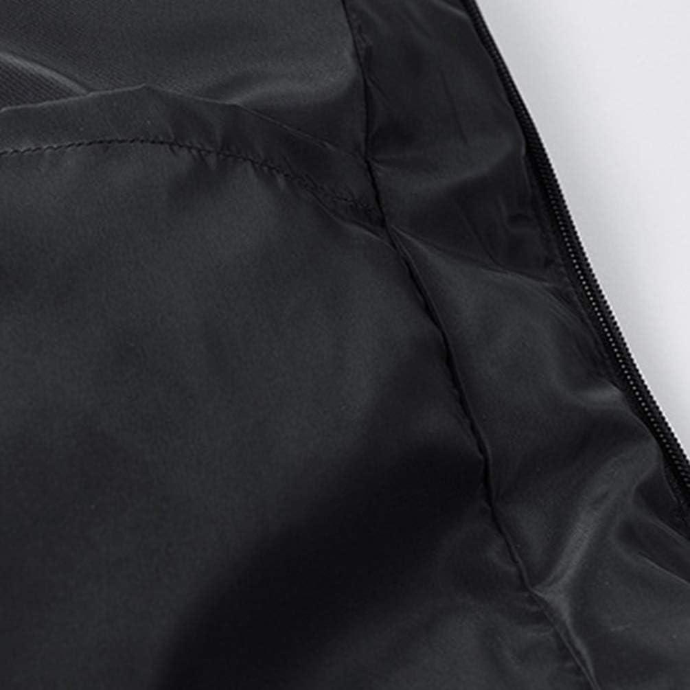 Yuanu Hombre Invierno Color S/ólido Espesar Caliente Chaleco Plumas Amantes Standing-Collar Chaqueta Acolchado Sin Mangas con Desmontable Faux Cuello de Piel