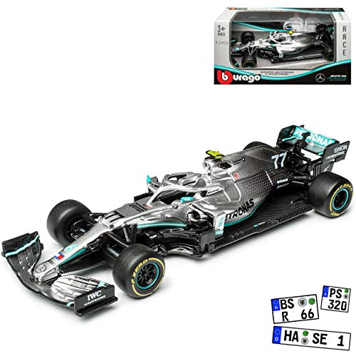Mercedes-Benz AMG W10 EQ Power Valtteri Bottas Nr 77 Formel 1 2019 1/43 Bburago Modell Auto