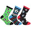 Pack Of 6 5-7 years UK Shoe: 9-12, EUR 26-31 FLOSO/® Childrens Boys Football /& Stripe Pattern Casual Socks Football Design