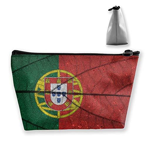 wenxiupin Bandera de Portugal Bolsas de cosméticos de Viaje duraderas Bolsa organizadora de artículos de tocador multifunción Bolsa de Maquillaje de Gran Capacidad