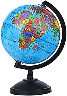 MYLOVE 5.57in English Globe With Stand 360 Degree Rotation Geography Teaching Globe Adults Children Discovery World Ball (...
