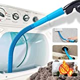 Holikme Dryer Lint Vacuum Attachment,Dryer Vent Cleaner Kit ,Vacuum Hose Attachment Brush,Lint Remover,Blue