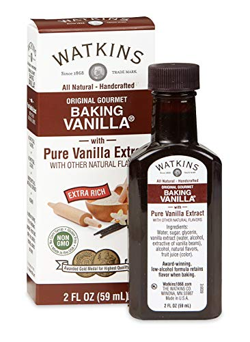 Watkins All Natural Original Gourmet Baking Vanilla with Pure Extract, 2 fl. oz. Bottle, 1-Pack