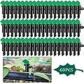 Mudder 60 Pieces 4GPH Irrigation Drip Emitter Garden Flag Irrigation Dripper, Trees and Shrubs