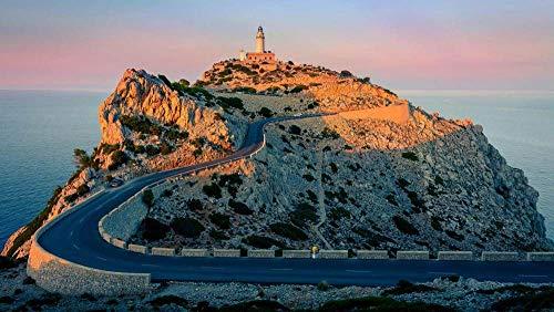 CZYSKY Faro De Formentor Point En El Acantilado, Mallorca, España, Rompecabezas 1500 Piezas Puzzle, Juguetes Educativos para Niños Adultos, Regalos Personalizados