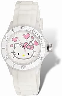 Hello Kitty White Dial White Silicone Strap Watch