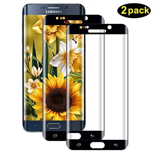 DOSMUNG Panzerglas Schutzfolie Kompatibel für Samsung Galaxy S6 Edge, [2 Stück] 3D Curved Panzerglasfolie für Galaxy S6 Edge, Anti-Kratzer, 9H Härte, Hüllenfreundlich, Displayschutzfolie für S6 Edge
