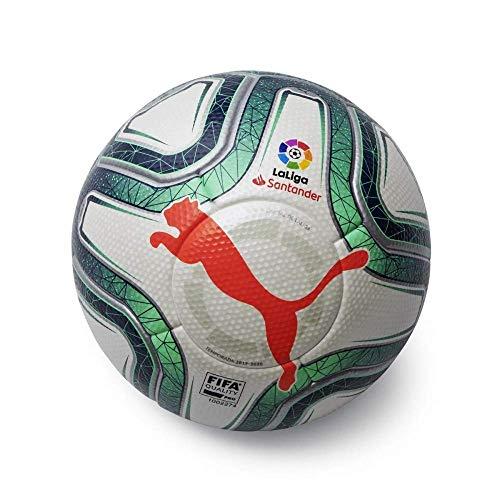 Puma LaLiga 1 (FIFA Quality) Fußball, Unisex Erwachsene, Grau White-Green Glimmer-NRGY Red, 5