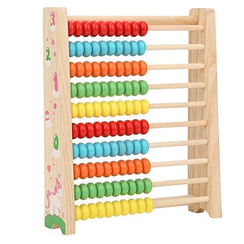 Huairdum Abacus, Kid Abacus, Mejora el Entrenamiento Visual Interesante y Linda Escuela Kindergarten Navidad Oficina de educación Infantil Halloween para el hogar(Pine Colorful Calculation Frame)