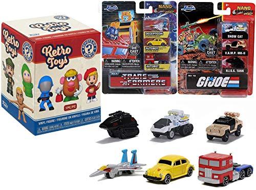 80's Nano Toys G.I. Joe & Transformers Hollywood Rides Decepticon & Autobot Optimus Prime / Bumblebee + American Hero Off Road Vehicles 3 Items Retro Mini Figure Blind Box Toy