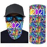 WOSITON Magic Scarf 2021 gelbe Kopfbedeckung Bandana Halstuch, Kopfwickel Sturmhaube zum Wandern und ein bestes Geschenk zum Geburtstag, Einheitsgröße, Weiß