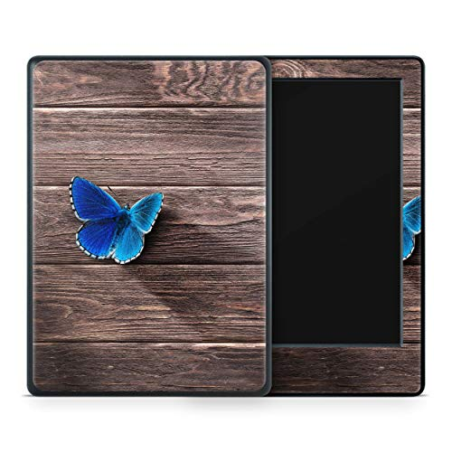 Skins4u Amazon Kindle Paperwhite 2018 Skin Aufkleber Design Schutzfolie Butterfly Wood